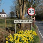 The entrance to Ystrad Meurig